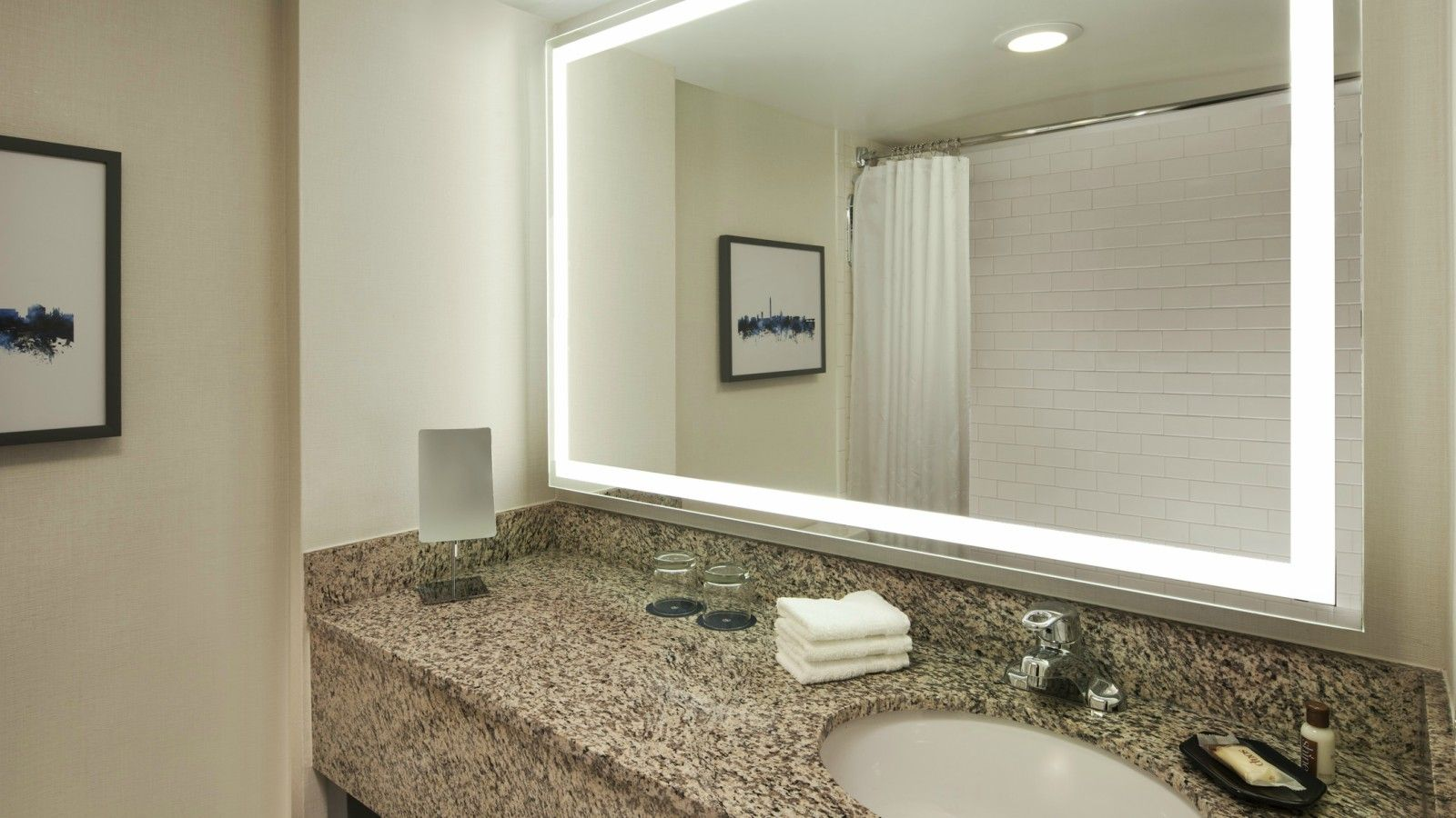 Renovated Guest Bathroom | Sheraton Silver Spring Hotel